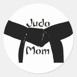 Martial Arts Black Belt Judo Mom Sticker