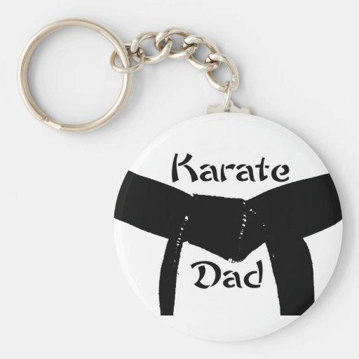 Martial Arts Black Belt Karate Dad Keychain