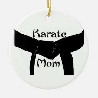 Martial Arts Black Belt Karate Mom Christmas Ornament