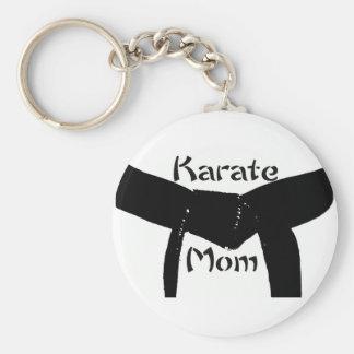 Martial Arts Black Belt Karate Mom Keychain