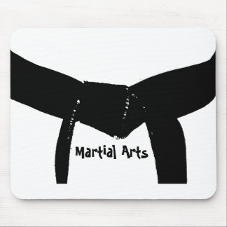Martial Arts Black Belt Mouse Mat