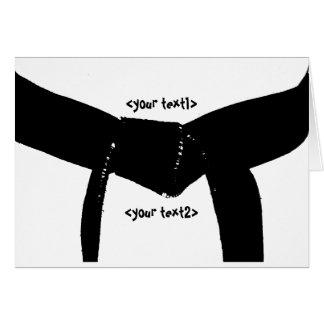 Martial Arts Black Belt Note Card