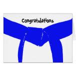Martial Arts Blue Belt Congratulations Card