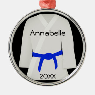 Martial Arts Blue Belt Ornament