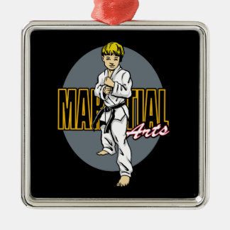 Martial Arts Boy Christmas Ornament