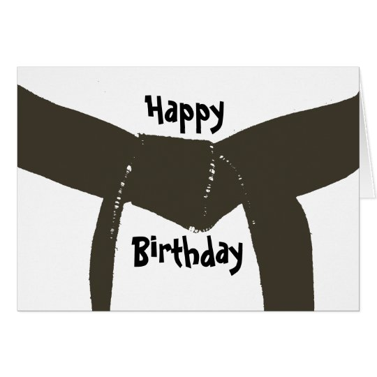 Martial Arts Brown Belt Birthday Card