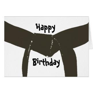 Martial Arts Brown Belt Birthday Greeting Card