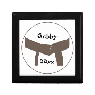 Martial Arts Brown Belt Small Square Gift Box