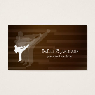 Martial Arts Coach Brown Business Card