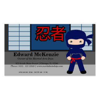 Martial Arts Doju Double-Sided Standard Business Cards (Pack Of 100)