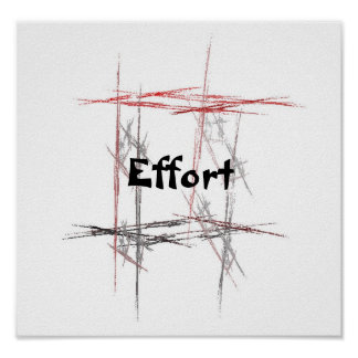 Martial Arts Effort Poster