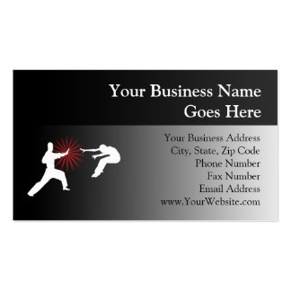 Martial Arts Energy Silhouette Business Card Templates