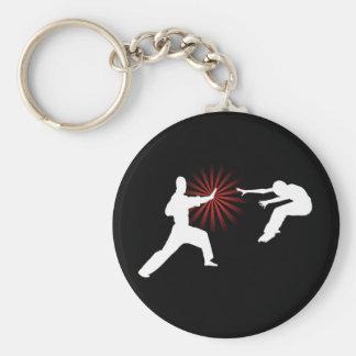 Martial Arts Energy Silhouette Key Chains