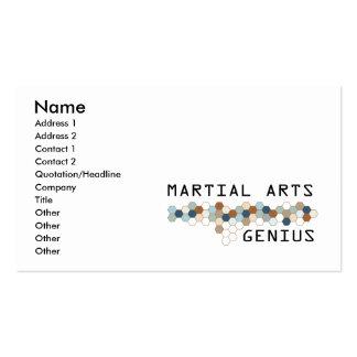 Martial Arts Genius Business Card Templates