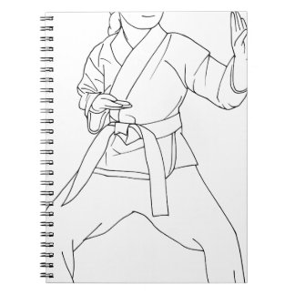 Martial Arts Girl Notebook