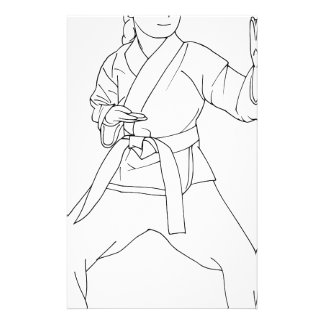 Martial Arts Girl Stationery