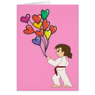 Martial Arts Girl Valentine Cards
