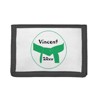 Martial Arts Green Belt Tri-fold Wallet