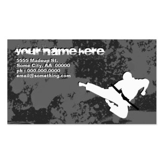martial arts : grunge silhouettes : business card templates