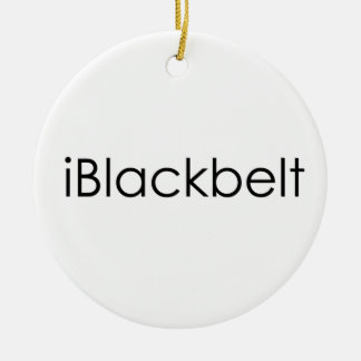 Martial Arts iBlackbelt Christmas Ornament