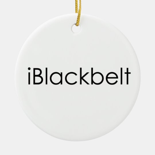 Martial Arts iBlackbelt Christmas Ornament