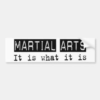 Martial Arts It Is Bumper Sticker