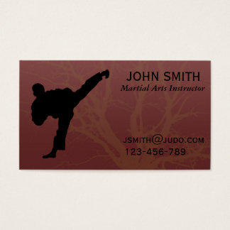 Martial Arts Judo / Karate /Tae Kwon Do Instructor Business Card