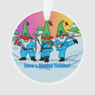 Martial Arts Karate Elves Ornament