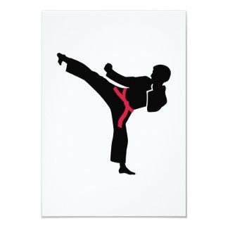 Martial arts Karate kick Personalized Invitations