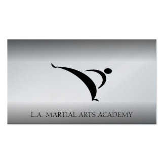 Martial Arts Karate Taekwondo Kung Fu Fade Business Card Template