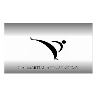 Martial Arts Karate Taekwondo Kung Fu Fade Business Card