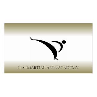 Martial Arts Karate Taekwondo Kung Fu Gold Fade Business Card