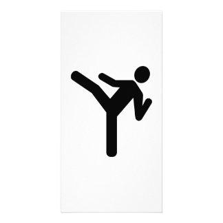 Martial arts kick symbol picture card