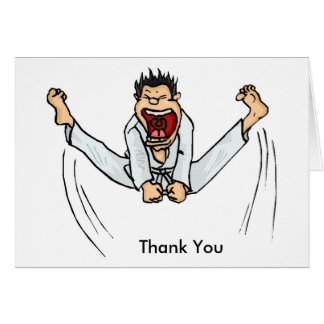 Martial Arts Kick Thank You Card