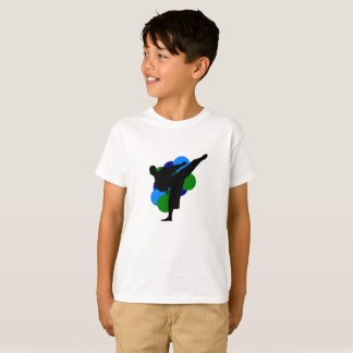 Martial Arts Kid Shirt with background