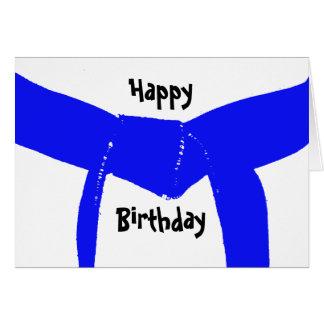 Martial Arts Light Blue Belt Birthday Card