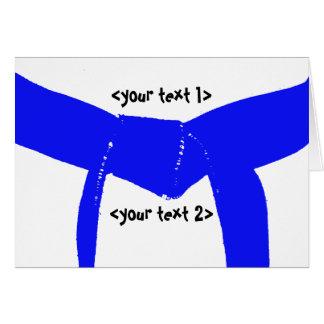 Martial Arts Light Blue Belt Card