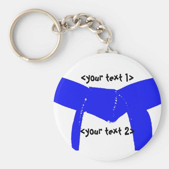 Martial Arts Light Blue Belt Key Ring