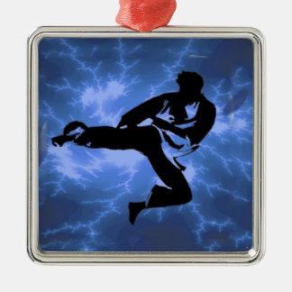 Martial Arts Lightning Blue Male Design Christmas Ornament
