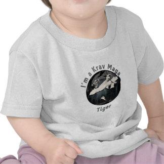 Martial Arts MMA Krav Maga Tiger Black T-shirt