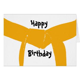 Martial Arts Orange Belt Birthday Greeting Card