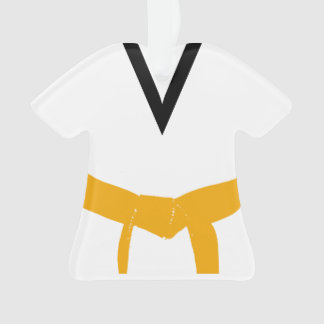 Martial Arts Orange Belt Uniform Ornament
