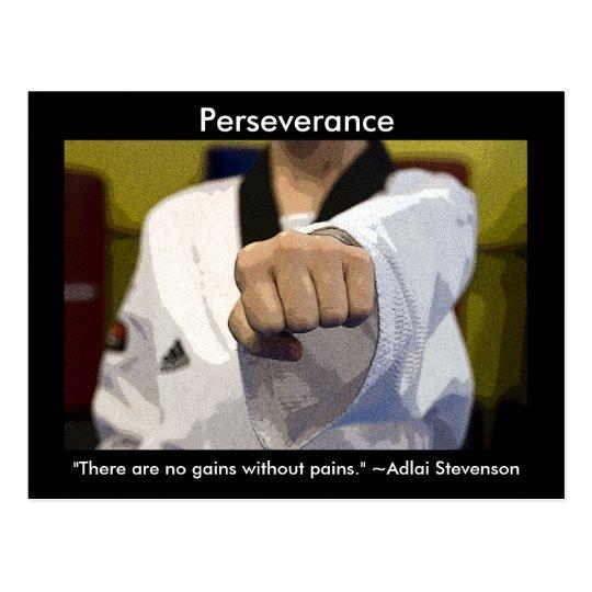 Martial Arts Perseverance Postcard