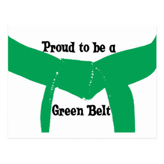 Martial Arts Proud to be a Green Belt Postcard