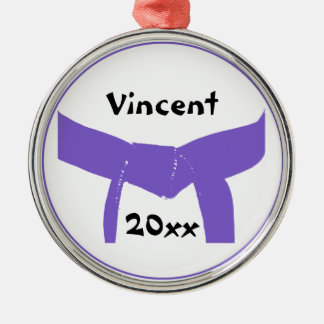 Martial Arts Purple Belt Christmas Ornament