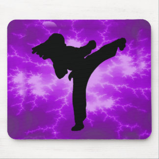 Martial Arts Purple Lightning Girl Mouse Mat
