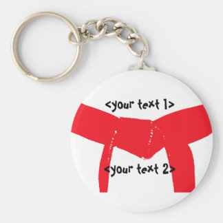 Martial Arts Red Belt Key Ring