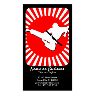 martial arts : red rays pack of standard business cards