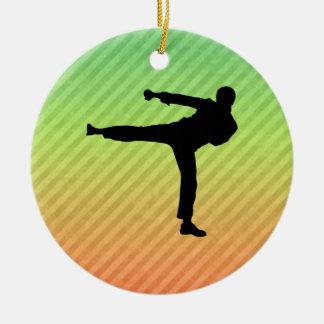 Martial Arts Round Ceramic Decoration