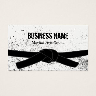 Martial Arts School Black Belt Master Business Card